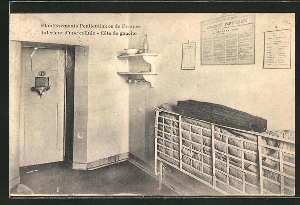 AK Fresnes, Etablissements Penitentiaires, Gefängniszelle