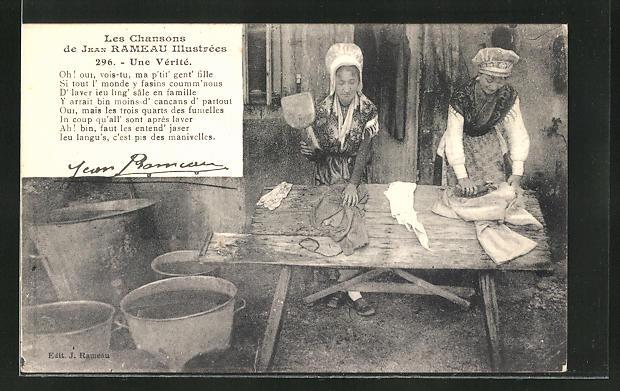 AK Waschfrauen bei der Arbeit
