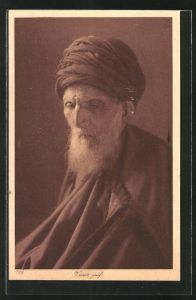 AK Vieux juif, alter jüdischer Mann mit langem Bart