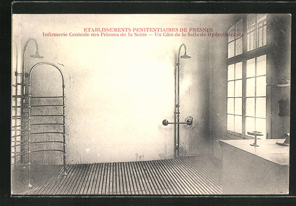 AK Fresnes, Etablissements Penitentiaires, la Salle de Hydrothérapie, Duschen, Gefängnis