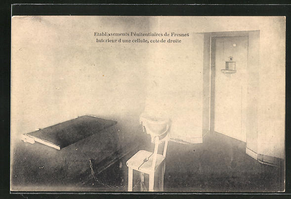 AK Fresnes, Etablissements Penitentiaires, Interrieur d'une cellule, Gefängniszelle