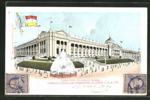 AK Louisiana Purchase Exposition, St. Louis 1904 - United States Government Building, Ausstellung