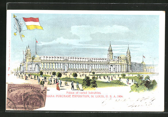 AK Louisiana Purchase Exposition, St. Louis 1904 - Palace of varied Industries, Ausstellung