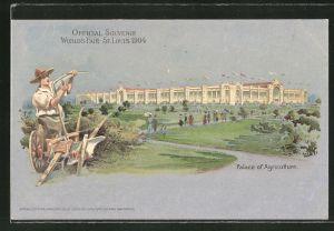 AK St. Louis, World's Fair 1904, Palace of Agriculture, Ausstellung