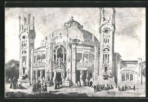AK Milano, Esposizione di Milano 1906, Salone dei Concerti al Parco, Ausstellung