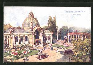 AK Milano, Esposizione di Milano 1906, Padiglione del Sud America, Ausstellung