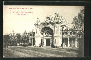 AK Milano, Esposizione di Milano 1906, Arti Decorative, Ausstellung