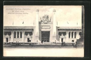 AK St. Louis, The Louisiana Exhibition 1904, Mines and Metallurgy Building, Ausstellung