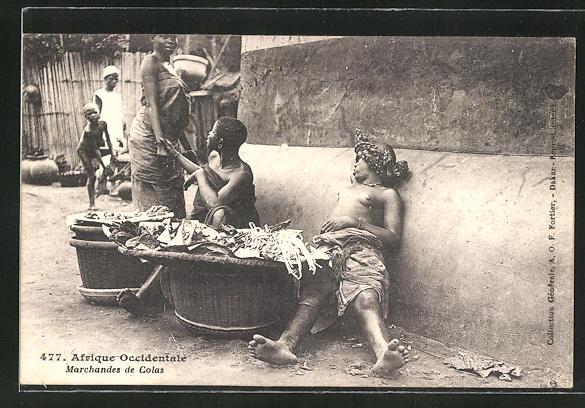 AK Marchandes de Colas, afrikanische Marktfrauen mit entblössten Brüsten