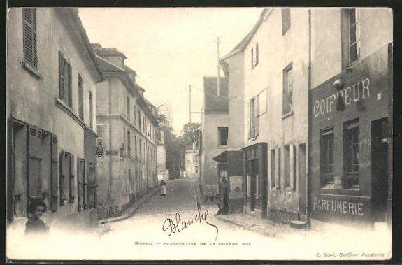 AK Saint-Prix, Perspective de la Grande Rue