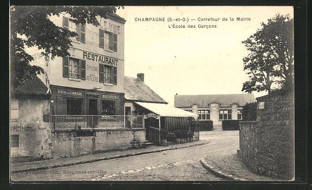 AK Champagne, Carrefour de la Mairie, L' Ecole des Carcons