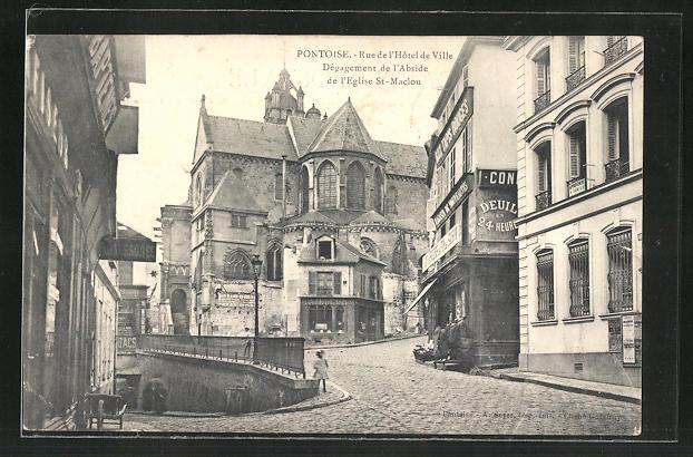 AK Pontoise, Rue de l' Hotel de Ville, Dègagement de l' Abside, de l' Eglise St. Maclou