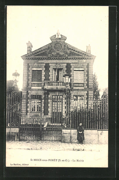 AK St.Brice-sous-Foret, la Mairie, Sicht auf das Rathaus