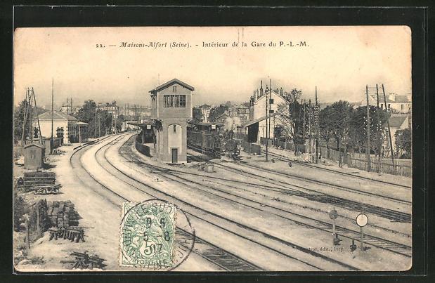 AK Maison-Alfort, Interieur de la Gare du P.-L.-M. 0