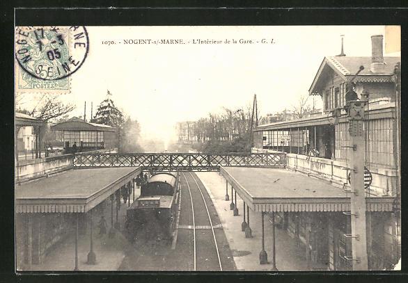 AK Nogent-sur-Marne, L'Interieur de la Gare 0