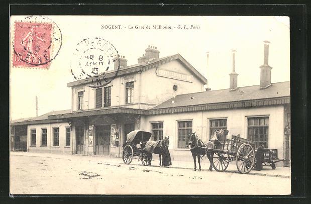 AK Nogent-sur-Marne, La Gare de Mulhouse 0