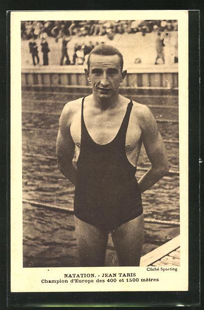 AK Jean Taris, Schwimmer, Europasieger in 400 und 1500 Meter