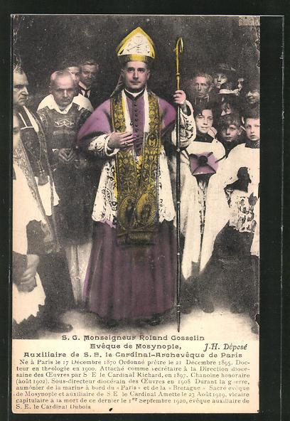 AK Monseigneur Roland Gosselin, Evêque de Modynople