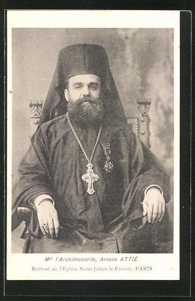 AK Mgr l'Archimandrite, Arsene Attié, Recteur de l'Eglise Saint-Julien-le-Pauvre, Paris