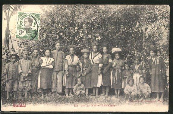 AK Groupe Meo de Lao Chay, asiatische Volkstypen