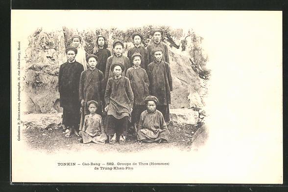 AK Cao-Bang, Groupe de Thos de Trung-Khan-Phu, asiatische Volkstypen, Cochinchine