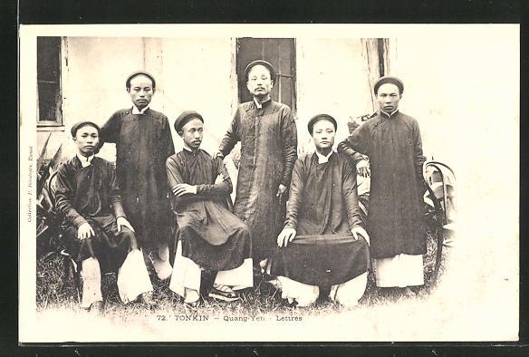 AK Quang-Yen, Lettrés, Männer aus Tonkin