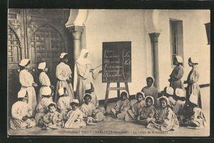 AK Orphélinat Saint-Charles, La Lecon de Grammaire, Mädchenschule, Birmandreis