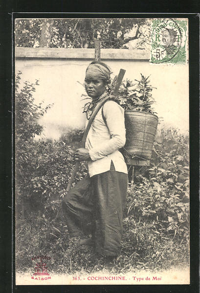 AK Cochinchine, Type de Moi, asiatische Volkstypen