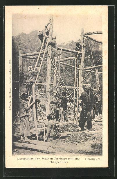 AK Construction d' un Poste en territoire militaire, Tischler bei der Arbeit