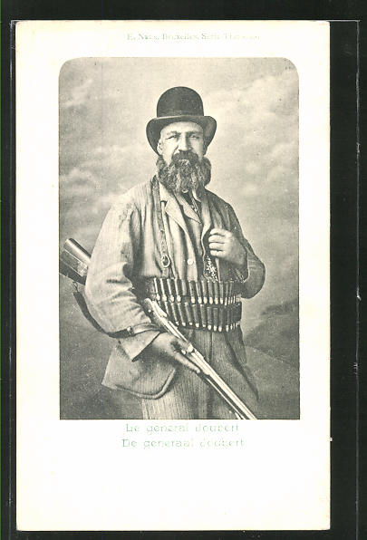 AK De gènèral Joubert mit Gewehr und Patronengürtel, Burenkrieg