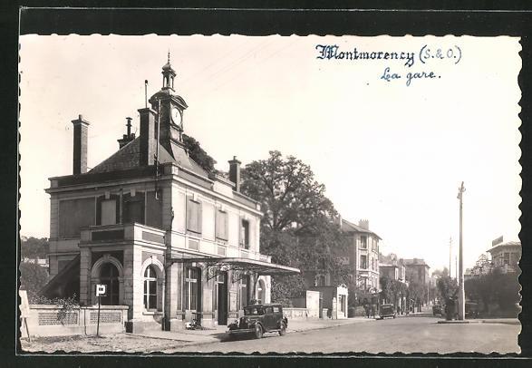 AK Montmorency, La Gare, Bahnhof