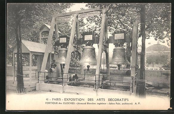 AK Paris, Exposition des arts Decoratifs, Portique des Cloches, Glocke
