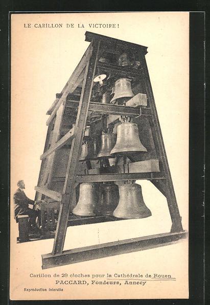 AK Le Carillon de Victoire, Carillon de 29 cloches pour la Ctahedrale de Rouen, Glocke