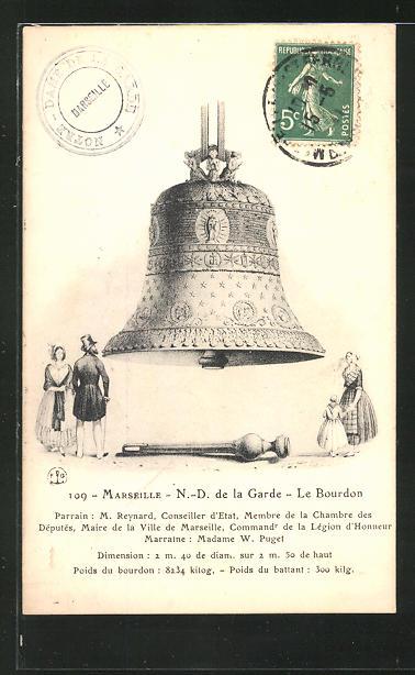 AK Marseille, N.-D. de la Garde, le Bourdon, Glocke 0