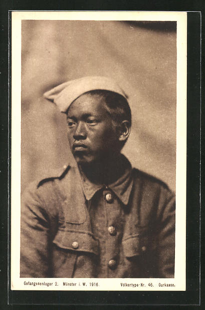 AK Münster, britischer Gurkasse im Gefangenenlager 1916, Völkertype Nr.46