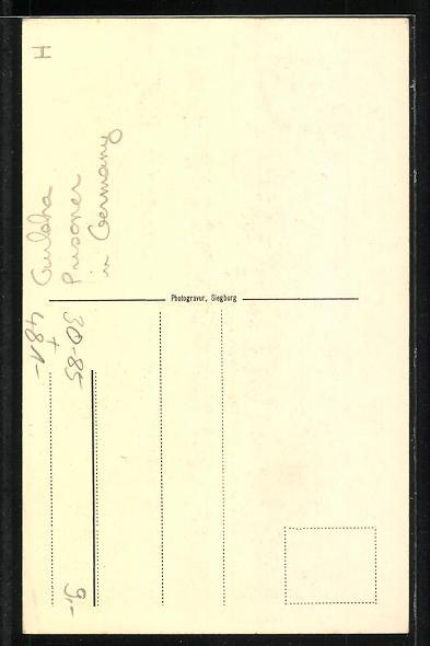 AK Münster, britischer Gurkasse im Gefangenenlager 1916, Völkertype Nr. 47 1
