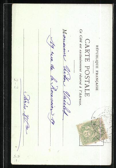 Lithographie La Post en Grece, griechischer Briefträger trifft Ziegenhirten 1
