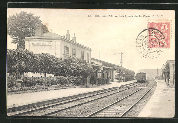AK Isle-Adam, Les Quais de la Gare, Bahnhof 0