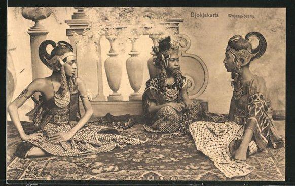 AK Djokjakarta, Wajang-orang, indonesisch traditionelle Trachten 0