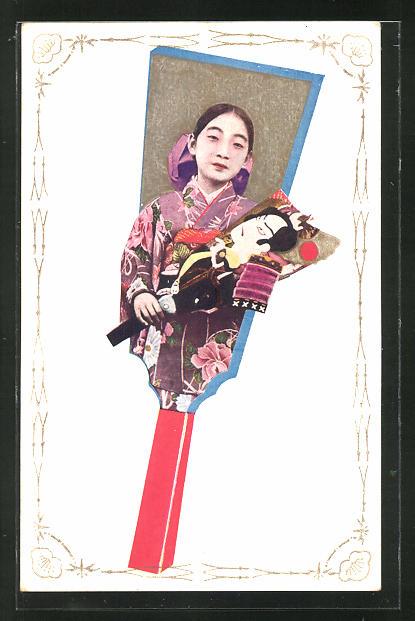 AK Porträt einer Geisha