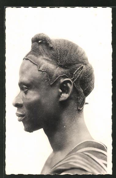 AK Cote D'Ivoire, Homme Guerret, afrikanische Volkstypen mit toller Frisur 0