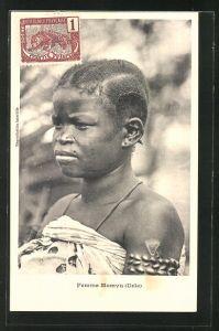AK Femme Momyu, afrikanische Volkstypen mit toller Frisur