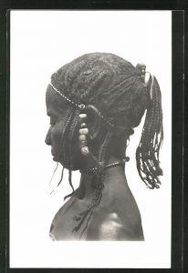 AK Femme Toucouleurs, afrikanische Volkstypen mit toller Frisur