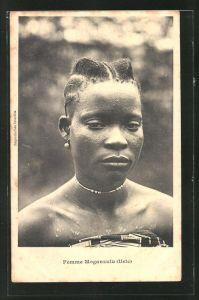 AK Femme Moganzulu, afrikanische Volkstypen mit toller Frisur