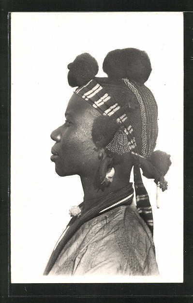 AK Soudan, Femme Daga, afrikanische Volkstypen mit toller Frisur 0