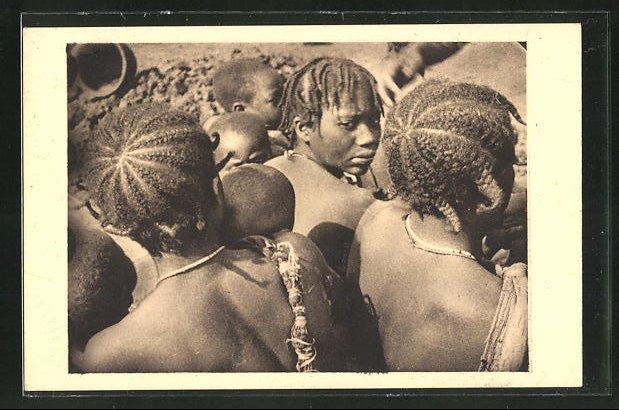 AK Typische afrikanische Frisuren