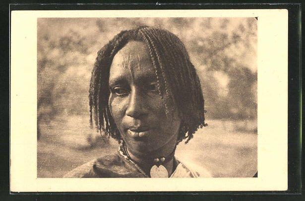 AK Afrikanischer Mann mit Zöpfen 0