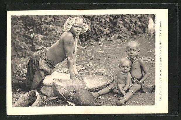 AK Afrikanischer Bäcker mit Kopfschmuck 0