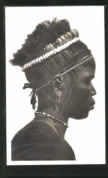 AK Hte-Volta, Femme Toucouleurs, Afrikanische Frau mit Kopfschmuck