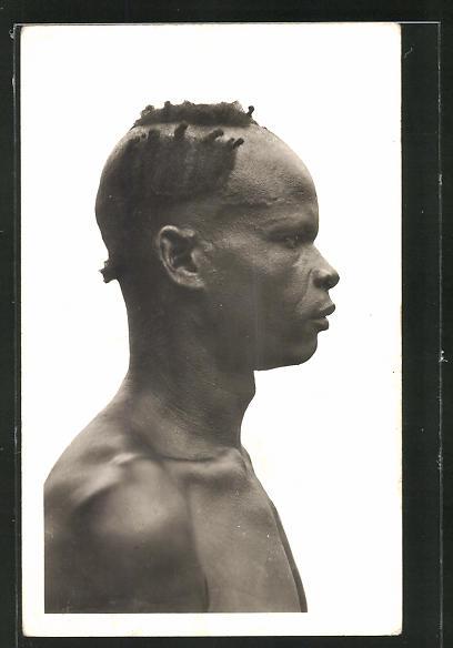 AK Guinee, Guerze, Afrikanischer Mann im Profil, Frisur 0